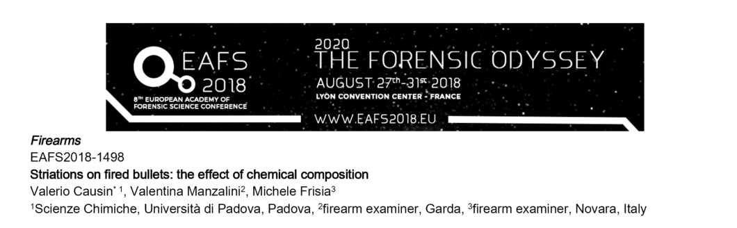 The forensic odyssey 2018 EAFS